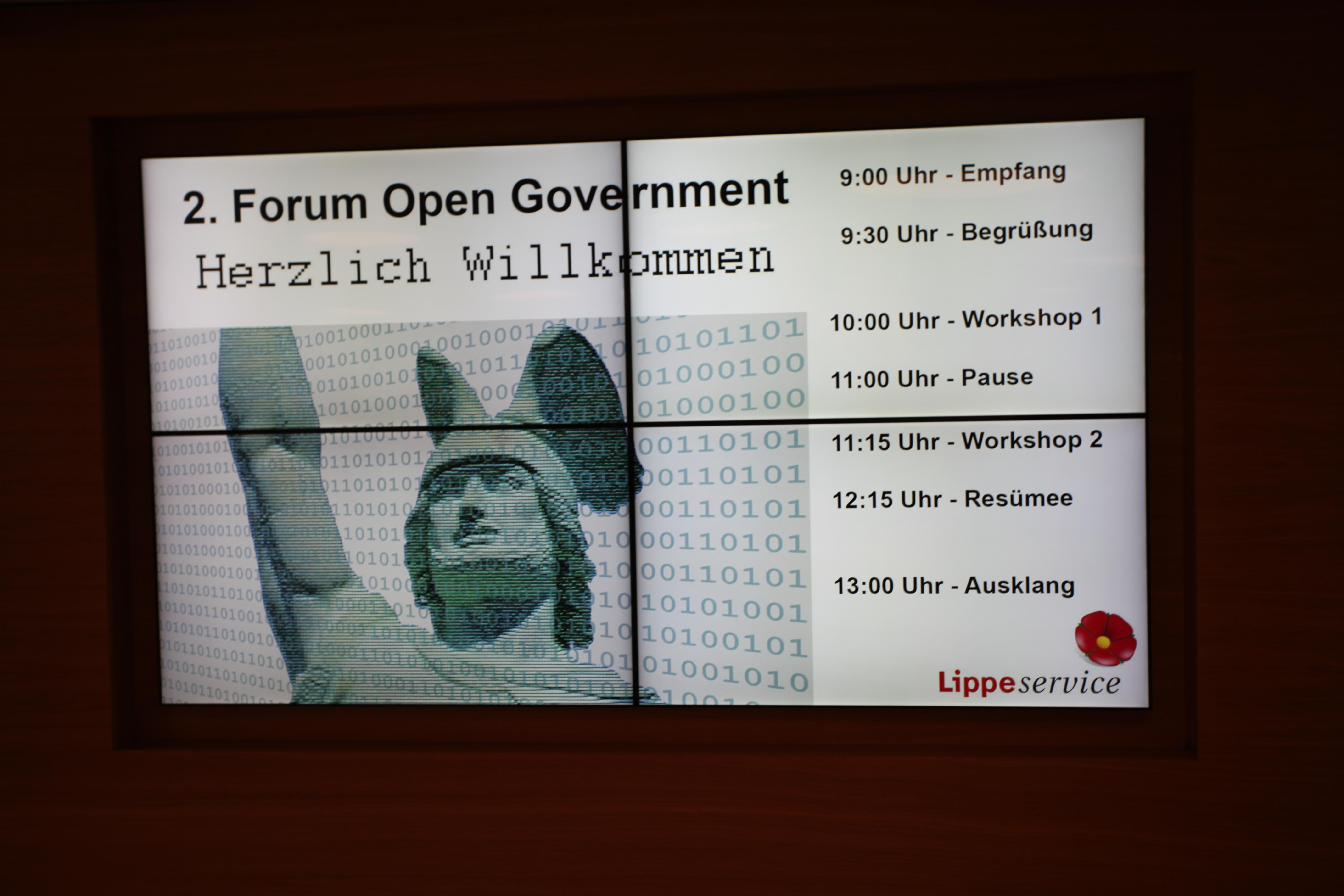 Wie funktioniert Open Government in der Praxis? Diese Frage wurde im Rahmen des 2. Forums in Detmold diskutiert (Foto: Press Medien)