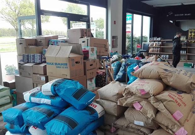 Hilfsgüter für die Opfer der Waldbrände in Portugal