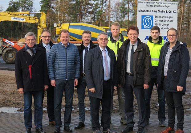 SIBO-Gruppe (sibo) investiert in ihre Produktionsstätte in Lingen: Im IndustriePark ist der Startschuss für den Bau einer Transportbetonanlage gefallen.