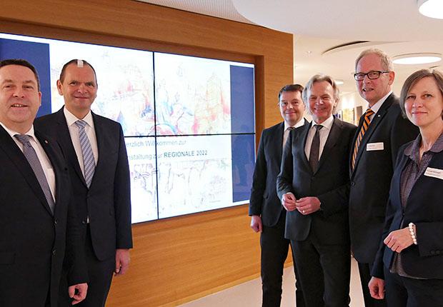 """Die Auftaktveranstaltung des Kreises Lippe für die """"REGIONALE 2022"""" stand ganz im Zeichen des Austausches."""