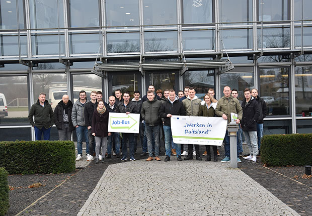 21 Schüler des Alfa-college Hoogeveen erhielten Einblick bei Bentheimer Eisenbahn AG in Nordhorn.