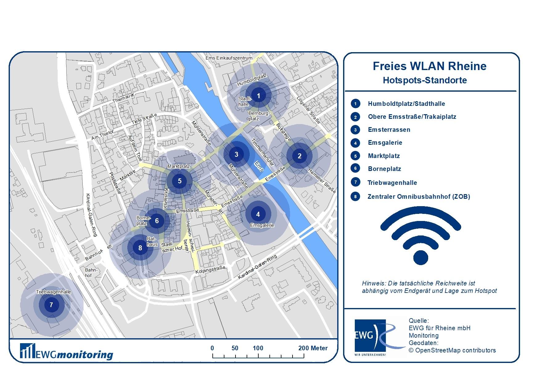 Freies WLAN für alle - dies hat die EWG Rheine möglich gemacht (Foto: EWG Rheine)
