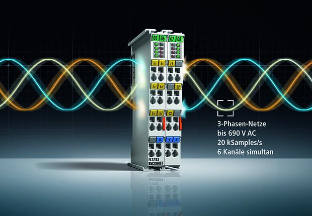 Netzmonitoring-Oversampling-Klemme EL3783 (EtherCAT-Klemme) für die leistungsfähige Wechselspannungsdiagnose bis 690 V AC