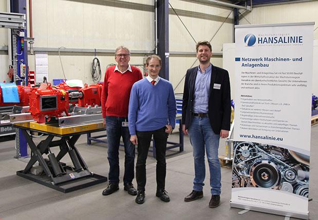 Vogelsang setzt auf eigene Entwicklungen – Maschinenbaunetzwerk der Hansalinie besuchte Unternehmen in Essen/Oldenburg