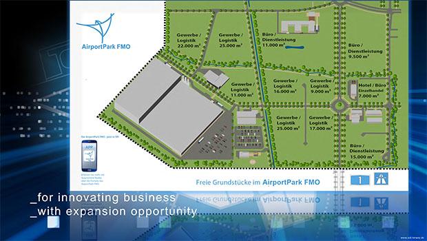 Depenbrock baut auf 8.000 m² im AirportPark FMO einen neuen Verwaltungs- und Schulungsstandort. (Bild: FMO)