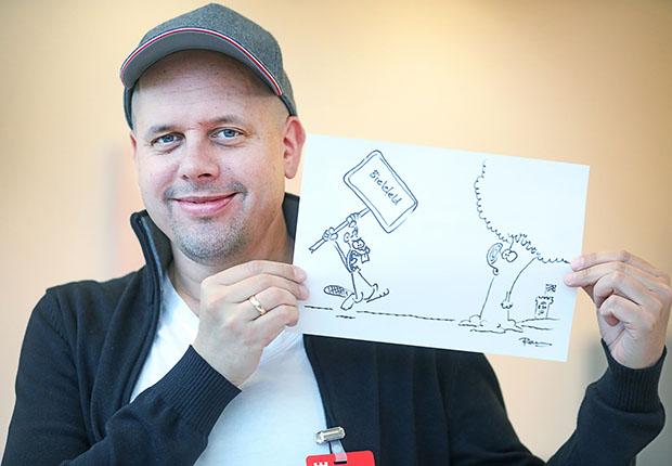 Der Bielefeld-Cartoon wird zugunsten des Kinder- und Jugendhospizes Bethel versteigert.