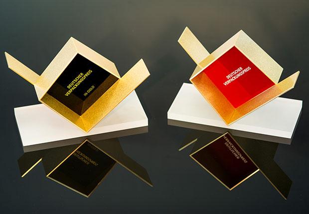 Die Trophäen des Deutschen Verpackungspreis' 2018