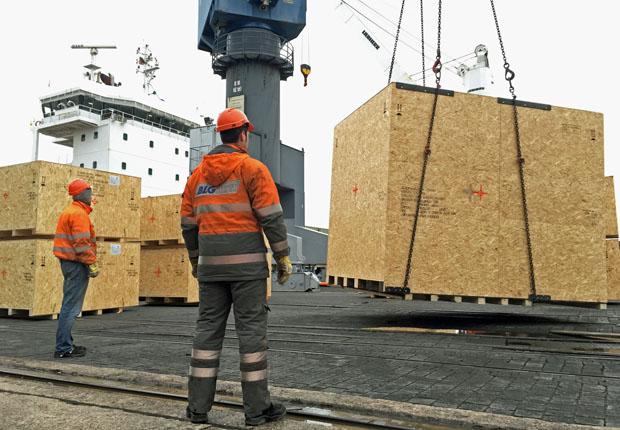 Stabil bei Wind und Wetter: Holzverpackungen für den Seetransport