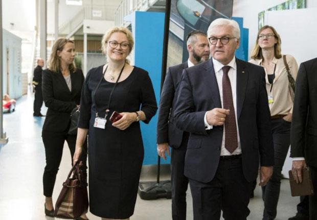 Elke Eckstein begleitete Frank-Walter Steinmeier in Niederlande