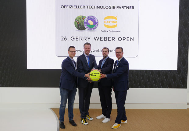 HARTING ist Technologie-Partner der 26. GERRY WEBER OPEN
