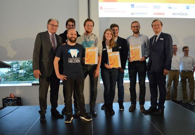 Innovative Geschäftskonzepte aus OWL bei Businessplan-Wettbewerb ausgezeichnet. (Foto OstWestfalenLippe GmbH)
