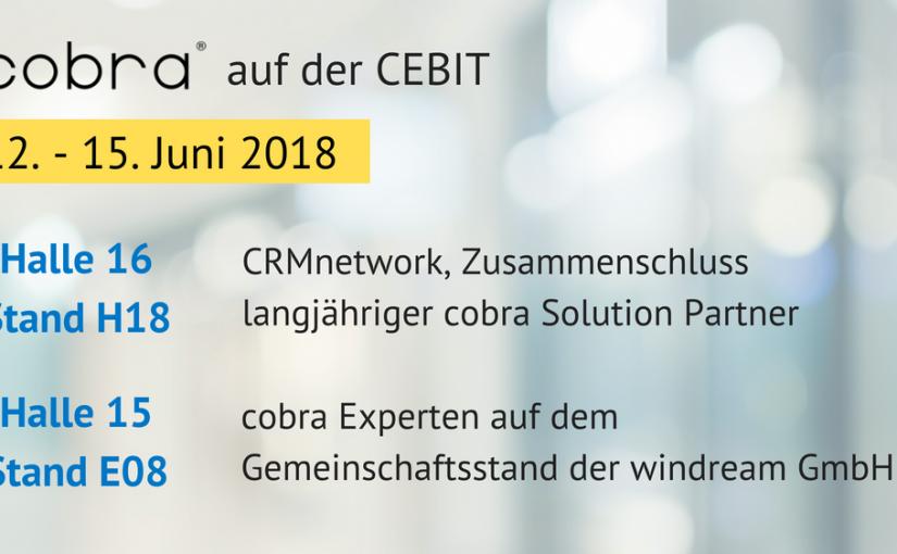 """cobra CRM präsentiert sich auf der CEBIT als """"DATENSCHUTZ-ready"""""""
