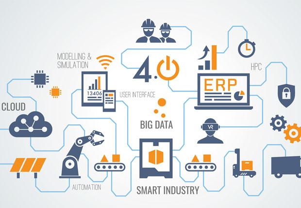 Der digitale Marktplatz von CloudiFacturing verknüpft die vorhandenen Betriebsdaten von Unternehmen über die Cloud mit Hochleistungssimulations-Tools. (Foto: Mimi Potter- Fotolia, Fraunhofer IGD)