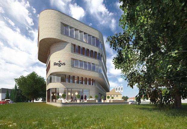 Das Winkelhaus – Charismatische Architektur mit Blick auf die Römereschstraße. (Foto: HOFF und Partner GmbH)