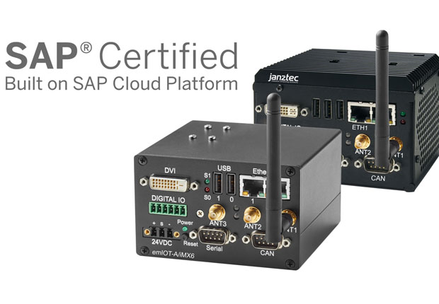 SAP zertifizierte IoT Gateways emIOT-A/iMX6 und emIOT-X. (Foto: Janz Tec AG)