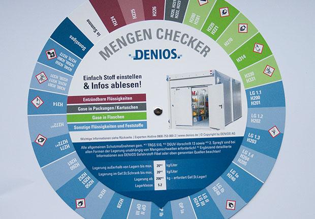 DENIOS Mengen-Checker für  Gefahrstofflagerung