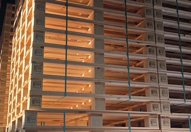 Holzpackmittel wie Paletten & Co. sind echte Allround-Talente. (Foto: HPE)