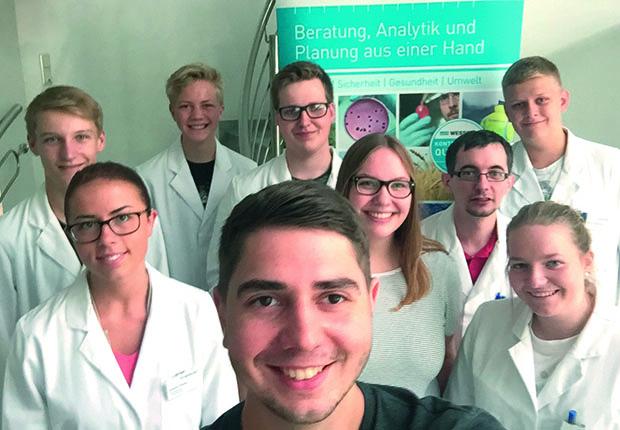 WESSLING Gruppe freut sich über den Start der neuen Azubis