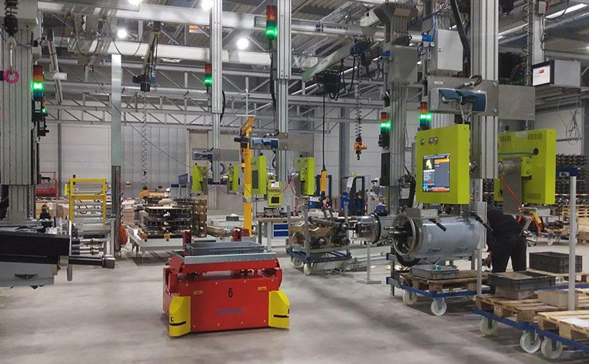 Die Montagelinie bei gigant in Dinklage: Im Zuge der Erweiterung der Produktionskapazitäten wurden die Fertigung und Logistik neu organisiert. Das Manufacturing Execution System von profilsys spielt hierbei eine zentrale Rolle. (Foto: profilsys)