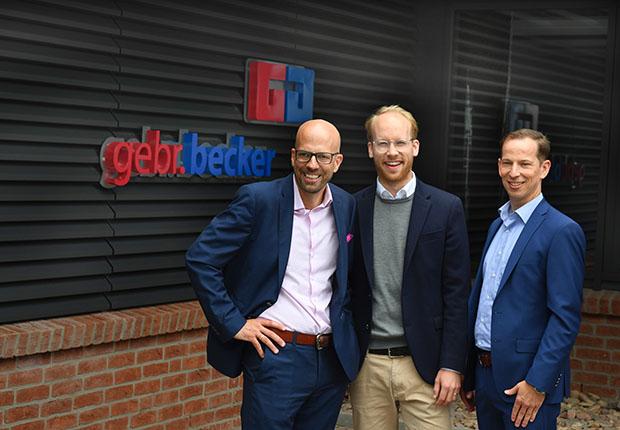 Nils Becker, Maximilian Viessmann und Mark Becker. (Foto: Gebr. Becker)