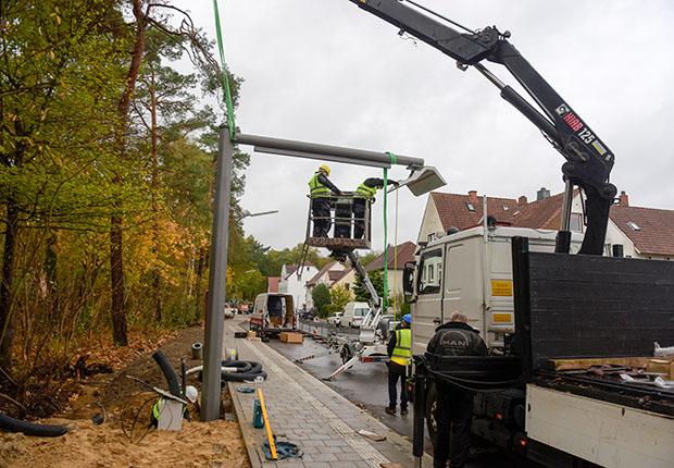 Bauarbeiten an der E-Bus-Endwende in Düstrup fertig