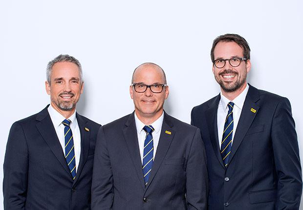 Jens Röttgering (Geschäftsführender Gesellschafter), Gunnar Voss von Dahlen (CFO), Christopher Heine (CEO) (Foto: Hengst)