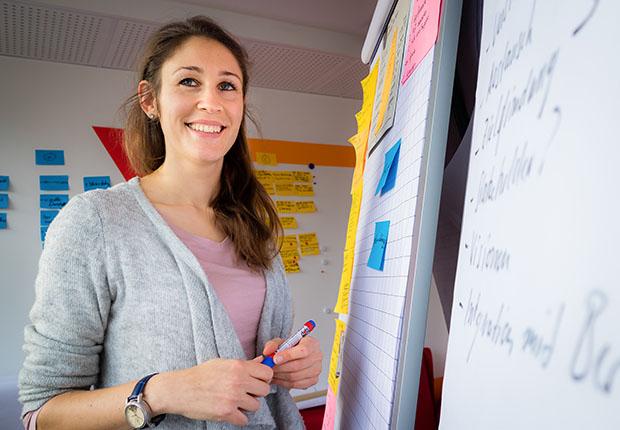 Lisa Geringhoff ist Projektleiterin des neu gestarteten Netzwerkprojekts start.connect. (Foto: FH Münster/ITB)
