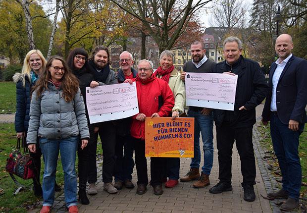 Spende für blühende Landschaften und den Imkerverein Paderborn