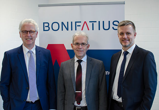 Rolf Pitsch, Dr. Richard Böger, Tobias Siepelmeyer (v.l.n.r.; Foto: Witte/Bonifatius)