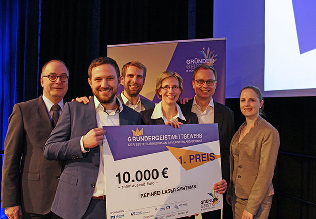 Refined Laser Systems – bester Businessplan im Münsterland