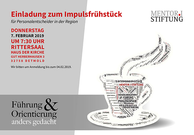 Die MENTOR.I Stiftung lädt ein: Impulsfrühstück für Personalentscheider & Führungskräfte. (Bild: MENTOR.I Stiftun)