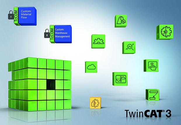 TwinCAT bündelt alle im Logistikbereich erforderlichen Maschinenfunktionalitäten und ermöglicht eine flexible horizontale Kommunikation auf Maschinen- und Anlagenebene sowie die vertikale Kommunikation zu Leit- und Lagerverwaltungssystemen. (Foto: Beckhoff)