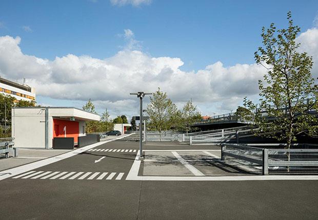 guss|Award prämiertes Mitarbeiterparkhaus mit HOFMEISTER Gussasphalt