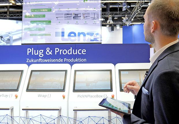 Plug & Produce heißt das Lenze Konzept – einfach einstecken und loslegen. (Foto: Lenze)