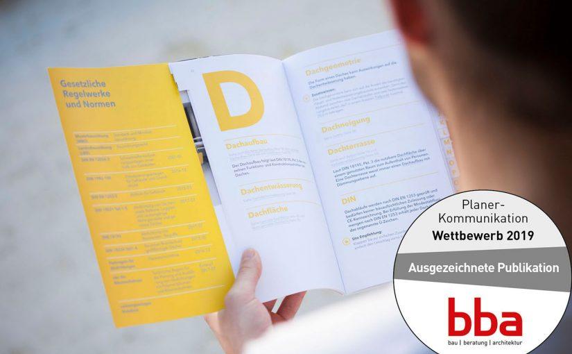 """bba Wettbewerb """"Planer-Kommunikation"""": 1. Preis für die SitaFibel"""