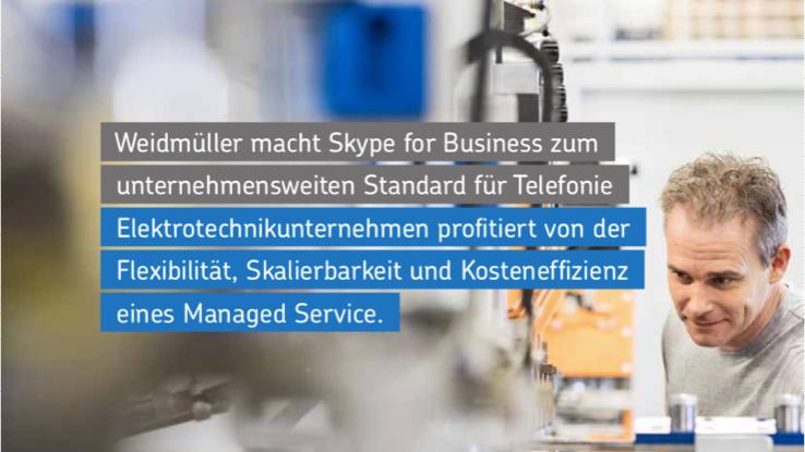 Weidmüller macht Skype for Business zum unternehmensweiten Standard für Telefonie