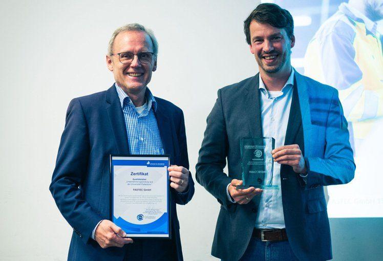 FASTEC GmbH erhält Qualitätslabel der Universität Paderborn
