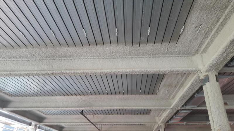 Maxit-Brandschutzputz auch für Stahlstützen und Stahlträger geeignet