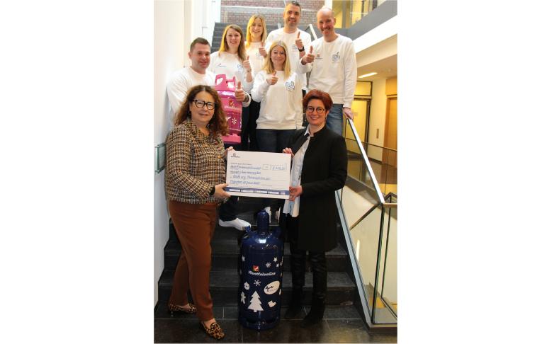 Ungewöhnliche Westfalengasflasche ermöglicht Spenden für Mitmachkinder