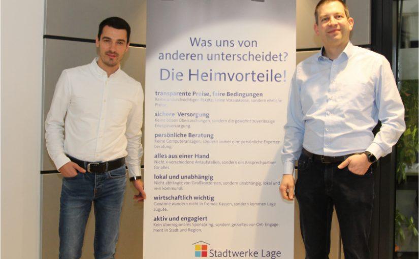 Sie kennen Lage schon viele Jahre: der neue Geschäftsführer, Shteryo Shterev (l.), und der technische Prokurist, Jörg Mikus. Foto: Stadtwerke Lage