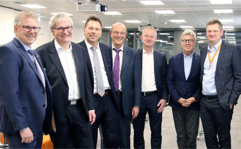 Detmold: Ca. 70 Unternehmer beim Wirtschaftsgespräch im Weidmüller-CTC