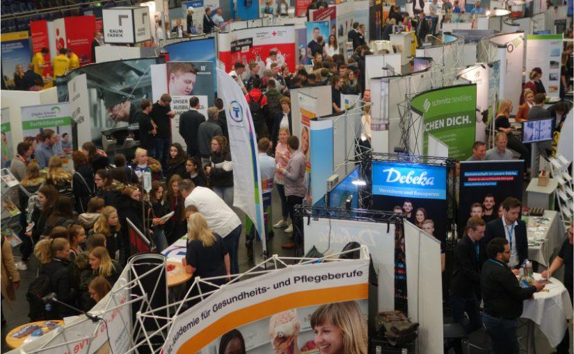 Berufswahlmesse 2019. Auch in 2020 findet die Berufswahlmesse und das Azubi-Speed-Dating statt. - Foto: Stadt Emsdetten