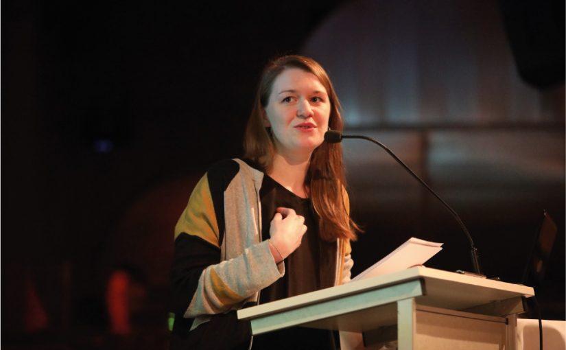 Redete Tacheles beim ing.meet.ing #15: Lia Polotzek vom Bund für Umwelt und Naturschutz aus Berlin. Foto: Nitschke Fotografen
