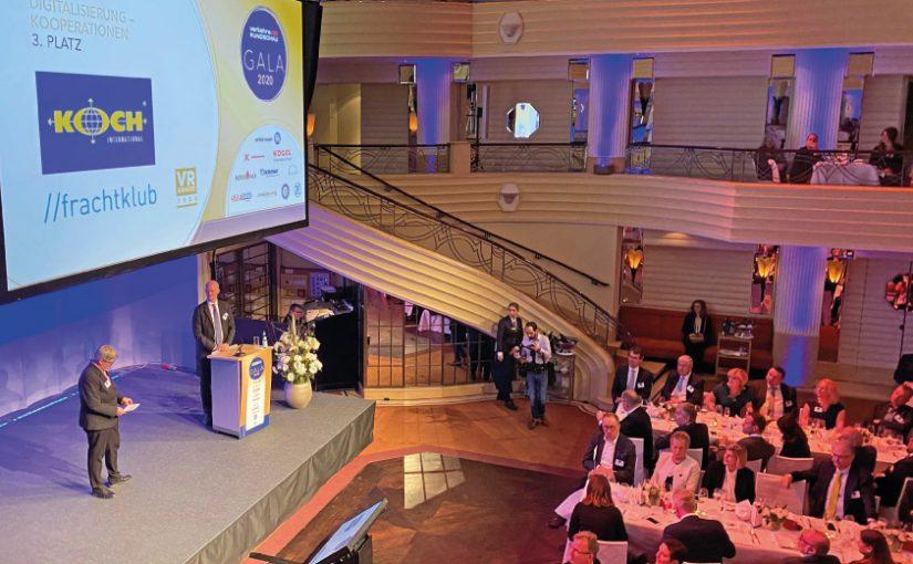 Koch International und Frachtklub sind drittplatziert in der Kategorie Digitalisierung in der Untergruppe der Kooperationen. Fotograf: Leif-Hermann Lühmann, Frachtklub