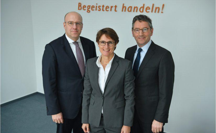 Vorstand der ek/Service Group. Von links, Martin Richrath, Susanne Sorg und Franz-Josef Hasebrink - Foto: EK/servicegroup