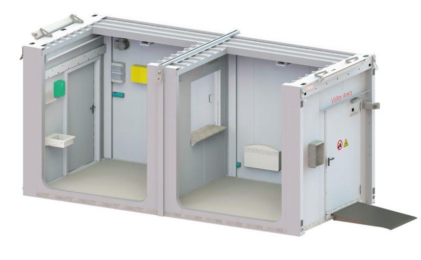 DENIOS Raumsystem ermöglicht  Kontaktreduktion bei der Warenübergabe