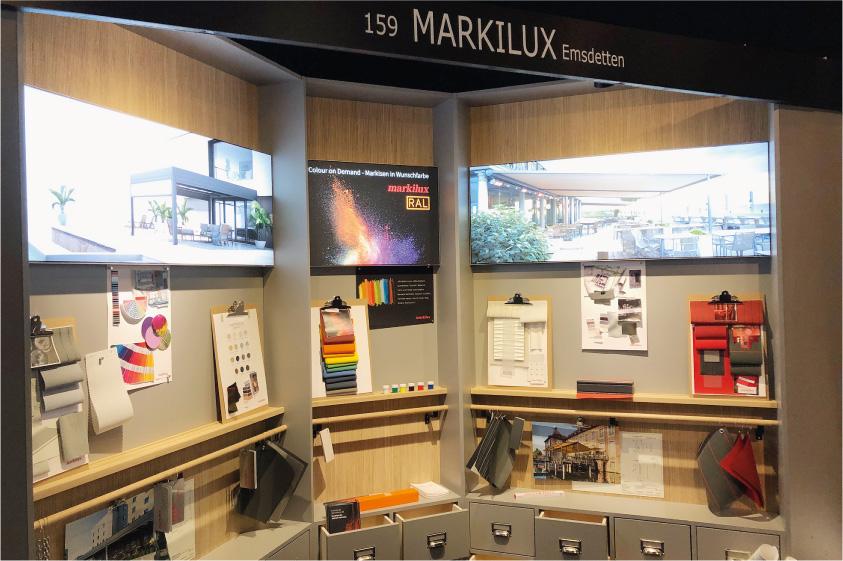"""markilux hat seine Markisen für das Projektgeschäft im vergangenen Herbst auf der Messe """"architect@work"""" an den deutschen Standorten Hamburg und München vorgestellt. - Foto: markiliux"""