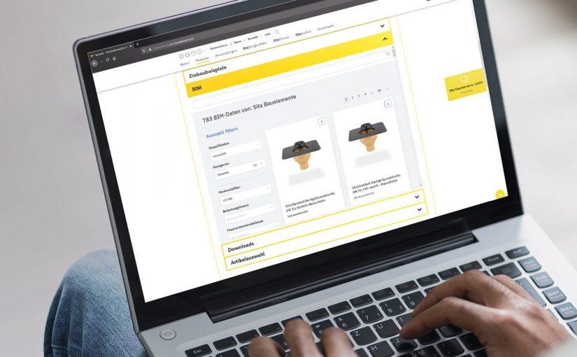 Das übersichtliche Sita BIM Portal: Alle erforderlichen Produktinfos auf einen Blick. Und bei Fragen der direkte Link zum Sita Profi Chat. - Foto: Sita