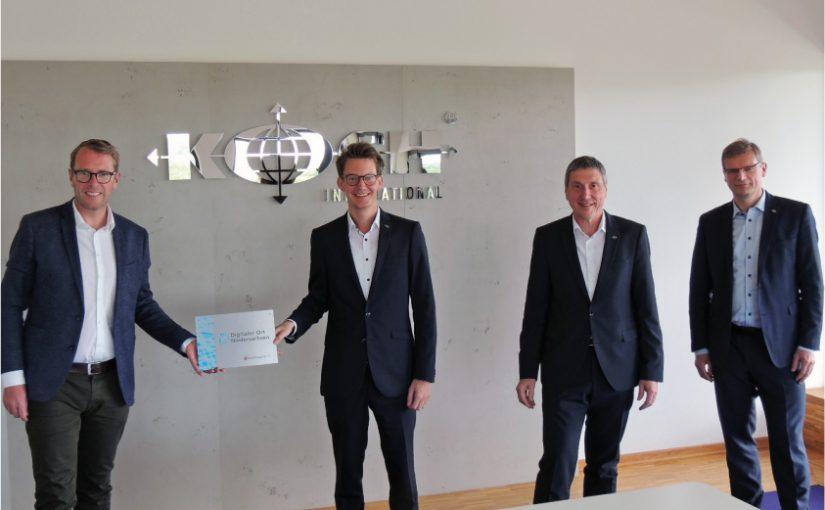 """Koch International erhält Auszeichnung """"Digitaler Ort Niedersachsen"""""""