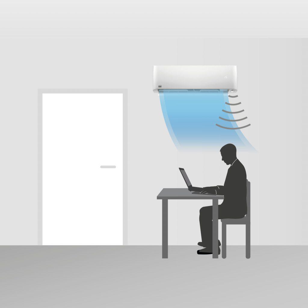Bild: REMKO GmbH & Co. KG, Lage. - Durch den Bewegungssensor kann die Luft entweder zur Person hin...